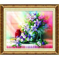 """Алмазная вышивка-мозаика """"Картина с лилиями"""""""