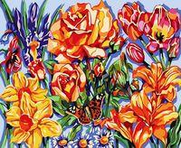 """Картина по номерам """"Цветочный восторг"""" (400х500 мм)"""