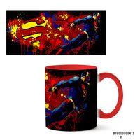 """Кружка """"Супермэн из вселенной DC"""" (413, красная)"""