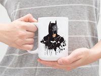"""Кружка большая белая """"Бэтмен"""" (арт. 510)"""