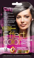 """Крем-краска для волос """"Effect Сolor"""" (тон: 1.0, черный)"""
