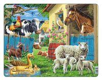 """Пазл-рамка """"Животные фермы"""" (23 элемента)"""