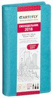 """Еженедельник """"City"""" на 2017 год (pocket; бирюзовая обложка)"""