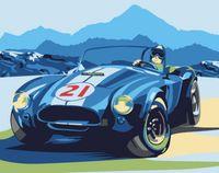 "Картина по номерам ""Ретро автомобиль Cobra"" (400х500 мм)"