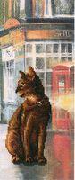 """Вышивка крестом """"Коты в городе"""" (115х275 мм; арт. С245)"""