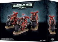 Warhammer 40.000. Chaos Space Marines. Bikers (43-08)