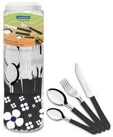 Набор столовых приборов металлических с пластмассовыми ручками (24 предмета; арт. 23199031)