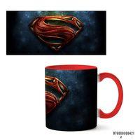 """Кружка """"Супермэн из вселенной DC"""" (421, красная)"""