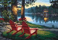 "Картина по номерам ""Вечер, удобные кресла"" (410х510 мм; арт. 91357-DMS)"