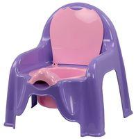 Горшок пластмассовый детский (светло-фиолетовый; арт. М1327)
