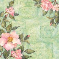 "Бумага для скрапбукинга ""Весна. Камелия"" (310х310 мм; 12 листов)"