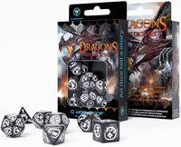 """Набор кубиков """"Dragon"""" (7 шт.; черно-белый)"""