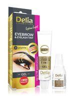 """Гель-краска для бровей и ресниц """"Delia cosmetics"""" тон: 1.1, графитовый"""