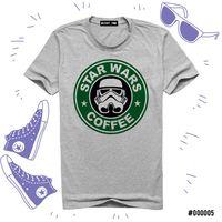 """Футболка серая унисекс """"Звездные войны. Кофе"""" XXXL (005)"""