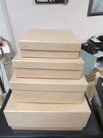"Подарочная коробка ""Квадрат"" (4х15х15 см, латте)"