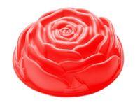 """Форма для выпекания силиконовая """"Роза"""" (230x70 мм; красный)"""