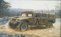 "Армейский вездеход ""M998 Command Vehicle"" (масштаб: 1/35)"