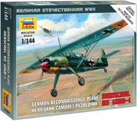 """Сборная модель """"Немецкий самолет-разведчик """"Henschel"""" 126B-I"""" (масштаб: 1/144)"""