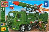"""Конструктор """"Армия. КамАЗ с ракетой"""" (140 деталей)"""