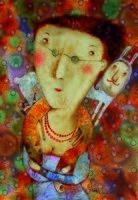 """Магнит на холодильник """"Серенький зайчик"""" (арт. 11.50)"""
