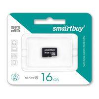 Карта памяти micro SDHC 16Gb SmartBuy Class 10 (без адаптера SD)