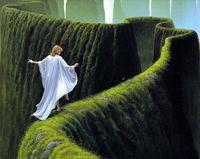 "Алмазная вышивка-мозаика ""Зеленый лабиринт"" (550х440 мм)"