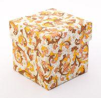 "Подарочная коробка ""Traditional"" (7,5х7,5х7,5 см; оранжевые элементы)"