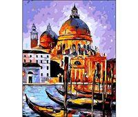 """Картина по номерам """"Венецианские гондолы"""" (400x500 мм)"""