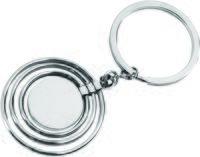 Брелок с 3 кольцами и диском, вращающимися вокруг одной оси