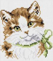 "Алмазная вышивка-мозаика ""Кошка Алиса"" (200х200 мм)"