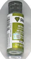 """Краска акриловая """"FolkArt. Metallic"""" (зеленый перидот, 59 мл; арт. PLD-00671)"""