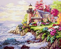 """Картина по номерам """"Дом у маяка"""" (400х500 мм)"""