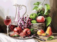 "Картина по номерам ""Натюрморт с фруктами"" (300х400 мм)"