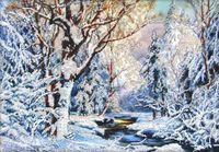 """Вышивка бисером """"Зима в лесу"""""""