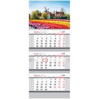 """Календарь настенный квартальный """"Цветочная поляна"""" (2018)"""