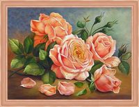"Алмазная вышивка-мозаика ""Ароматные розы"" (400х300 мм)"