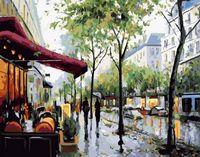 "Картина по номерам ""Прогулка под дождем"" (400х500 мм)"