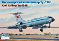 Пассажирский авиалайнер Ту-134Б (масштаб: 1/144)
