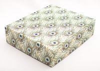 "Подарочная коробка ""Peacock Feathers"" (16,5х20х5 см; синие элементы)"