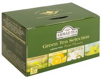 """Чай зеленый """"Ahmad Tea. Зеленая коллекция"""" (20 пакетиков; ассорти)"""