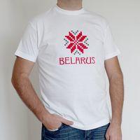 "Футболка мужская ""Belarus"" (M; белая)"