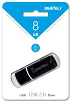 USB Flash Drive 8Gb SmartBuy Crown (Black)
