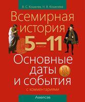 Всемирная история. 5-11 классы. Основные даты и события с комментариями