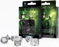 """Набор кубиков """"Elvish"""" (7 шт.; прозрачно-черный)"""