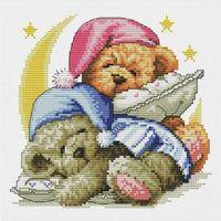 """Вышивка крестом """"Два медвежонка"""" (400х400 мм)"""