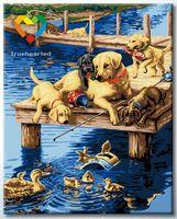 "Картина по номерам ""Лабрадоры и утки"" (400x500 мм; арт. HB4050296)"