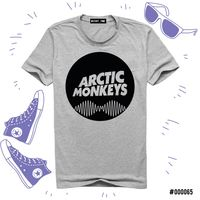 "Футболка серая унисекс ""Arctic Monkeys"" S (065)"