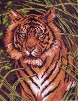 """Канва с нанесенным рисунком """"Тигр"""""""