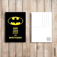 """Открытка """"Бэтмен"""" (арт. 047)"""
