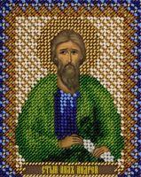 "Вышивка бисером ""Святой апостол Андрей"" (85х105 мм)"